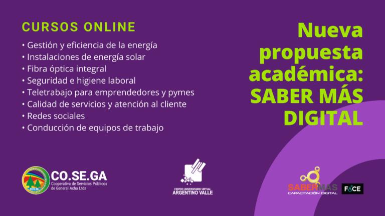 Oferta académica de Saber más digital