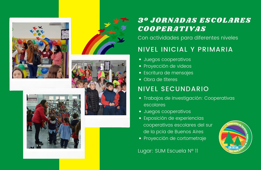 Jornadas Escolares Cooperativas: Cronograma general de actividades