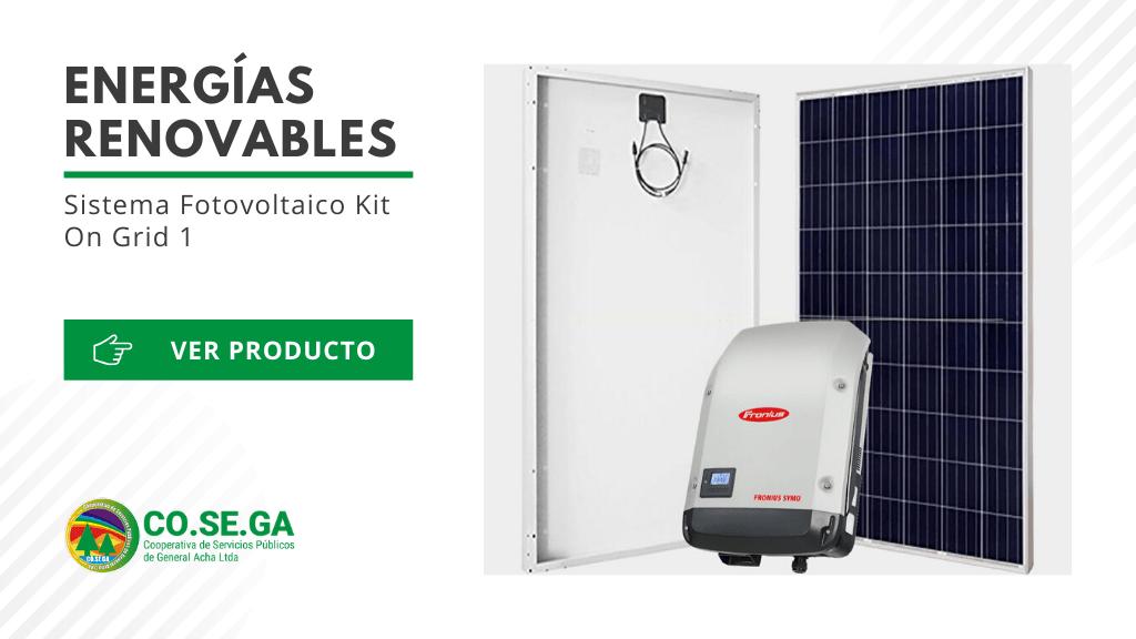 Sistema Fotovoltaico Kit On Grid 1