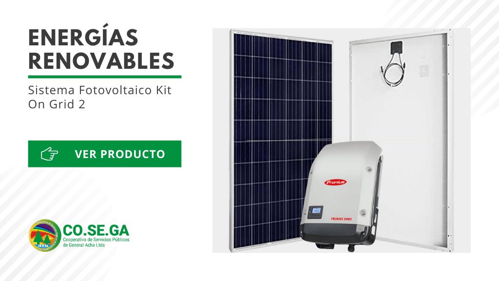 Sistema Fotovoltaico Kit On Grid 2
