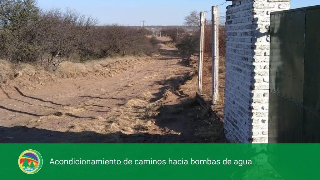 Acondicionamiento de caminos hacia bombas de agua