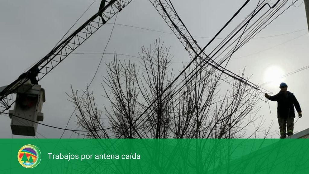 Trabajos por antena caída