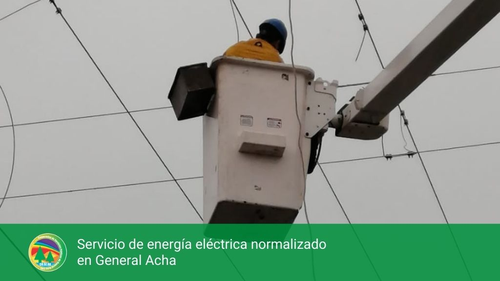 Servicio de energía eléctrica normalizado General Acha.