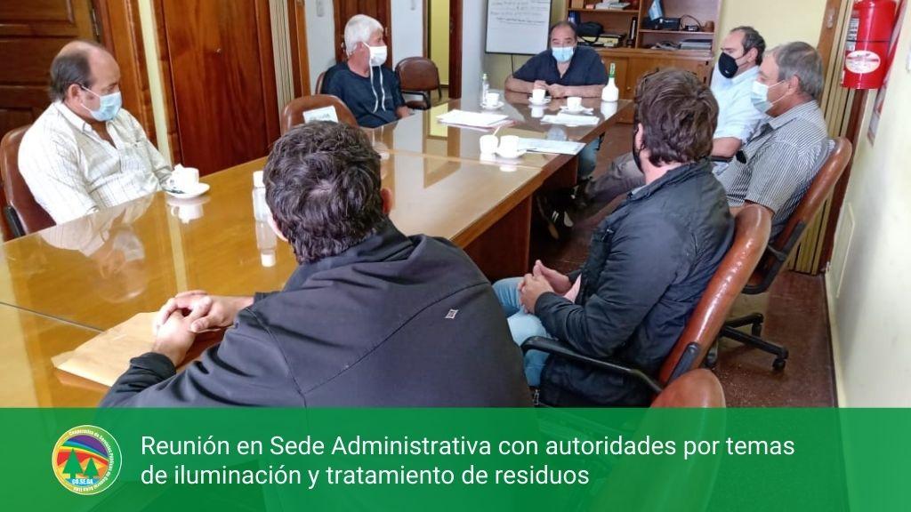 Reunión en Sede Administrativa con autoridades por temas de iluminación y tratamiento de residuos.