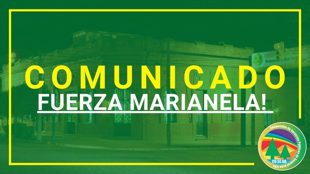 Comunicado: Fuerza Marianela!