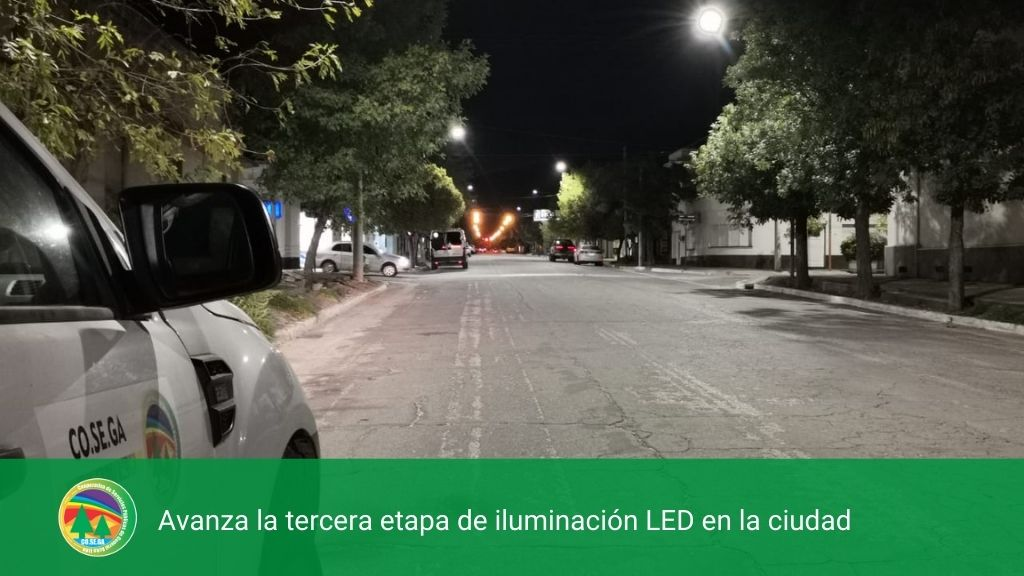 Avanza la tercera etapa de iluminación LED en la ciudad.