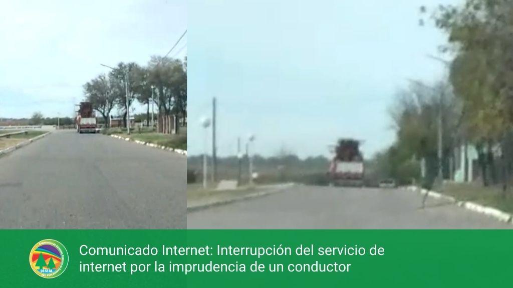 Comunicado Internet: Interrupción del servicio de internet por la imprudencia de un conductor.