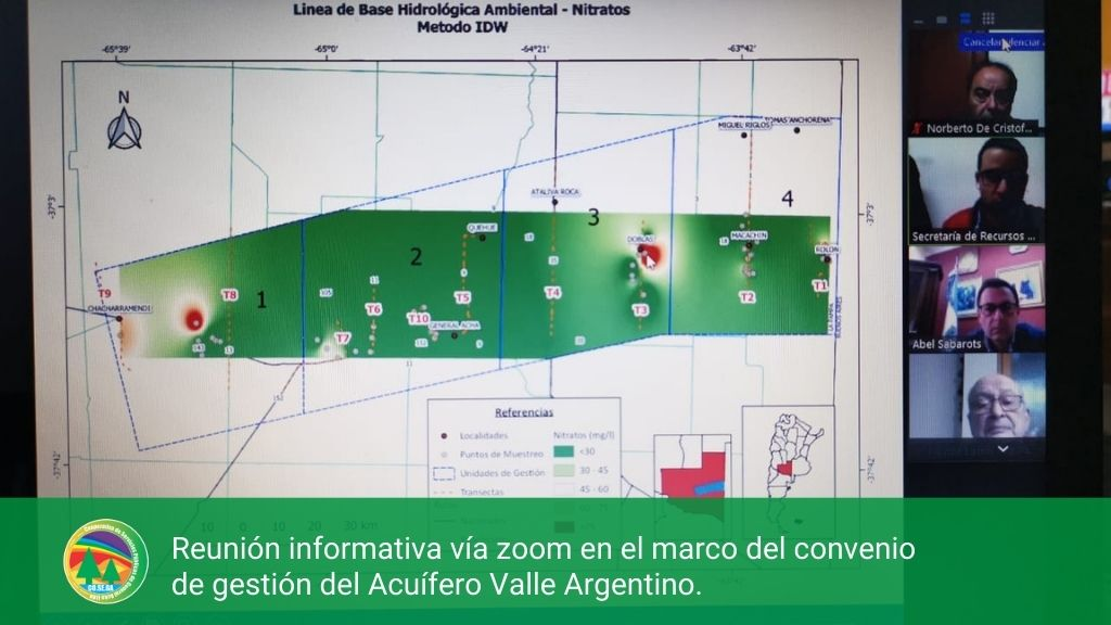 Reunión informativa vía zoom en el marco del convenio de gestión del Acuífero Valle Argentino.