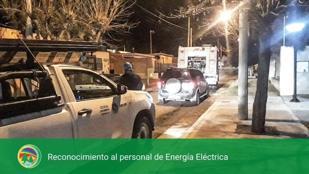 Reconocimiento al personal de Energia Eléctrica.