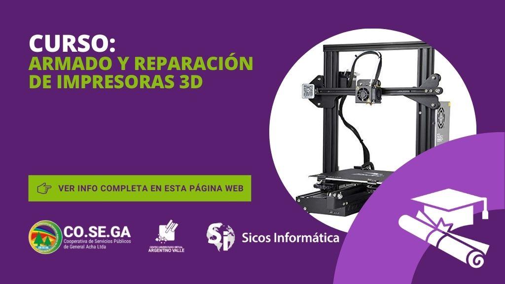 Curso de Armado y Reparación de Impresoras 3D
