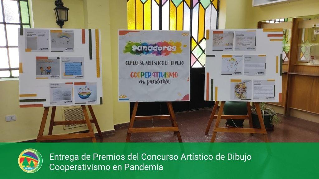 Entrega de Premios del Concurso Artístico de Dibujo Cooperativismo en Pandemia.