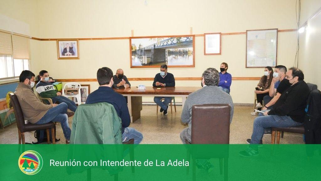Reunión con Intendente de La Adela.