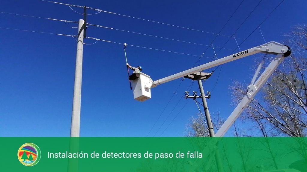 Instalación de detectores de paso de falla.