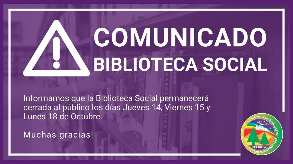 Comunicado: Biblioteca Social.